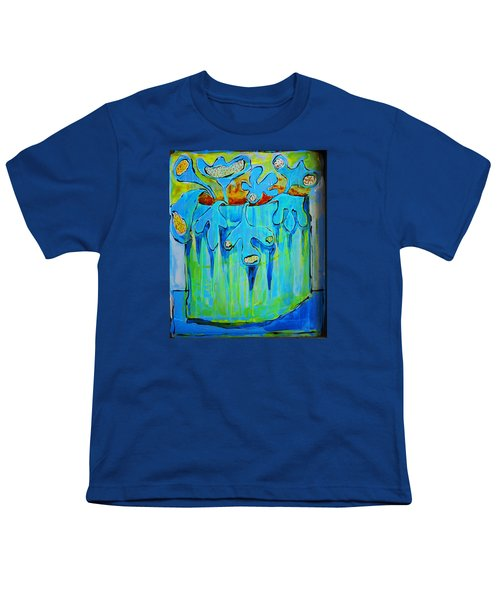 A Bucket Of Flowers Youth T-Shirt by DAKRI Sinclair