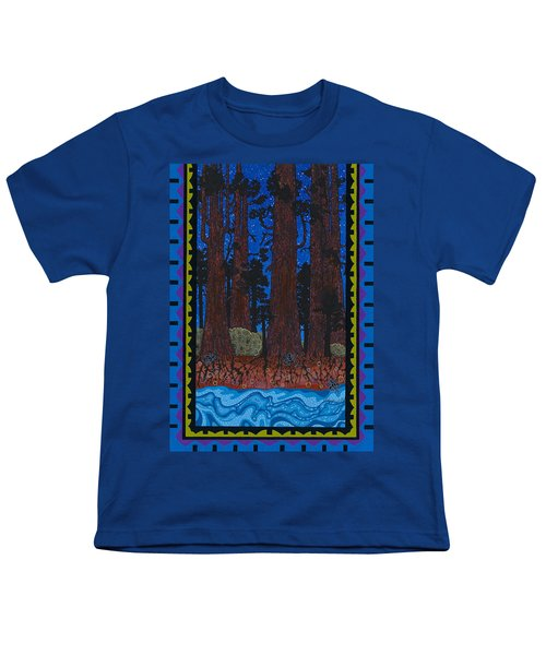 Youth T-Shirt featuring the painting A Forest Whispers by Chholing Taha