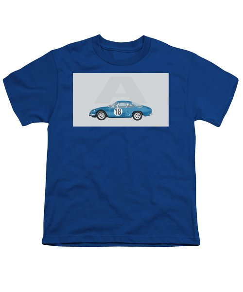 Youth T-Shirt featuring the mixed media Alpine A110 by TortureLord Art