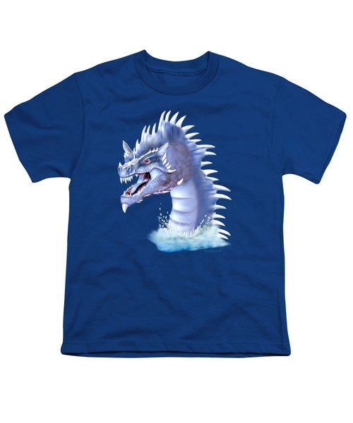 Arctic Ice Dragon Youth T-Shirt by Glenn Holbrook