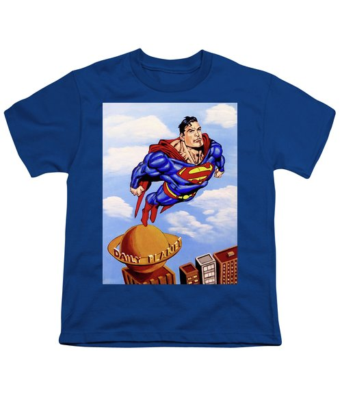 Superman Youth T-Shirt by Teresa Wing