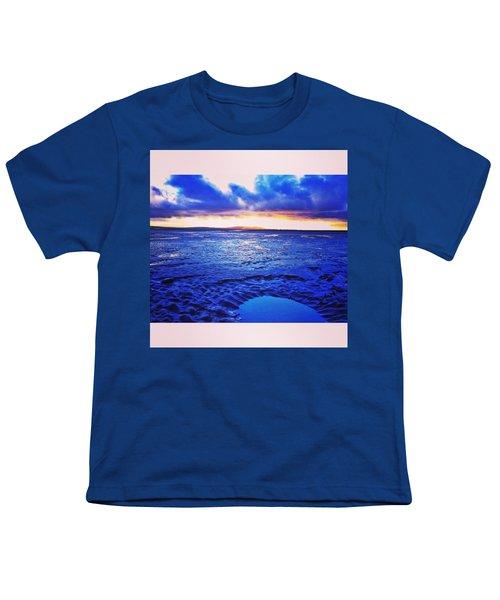 Beach Puddle. #beach #sunset Youth T-Shirt