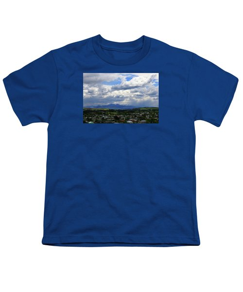 Big Sky Over Oamaru Town Youth T-Shirt