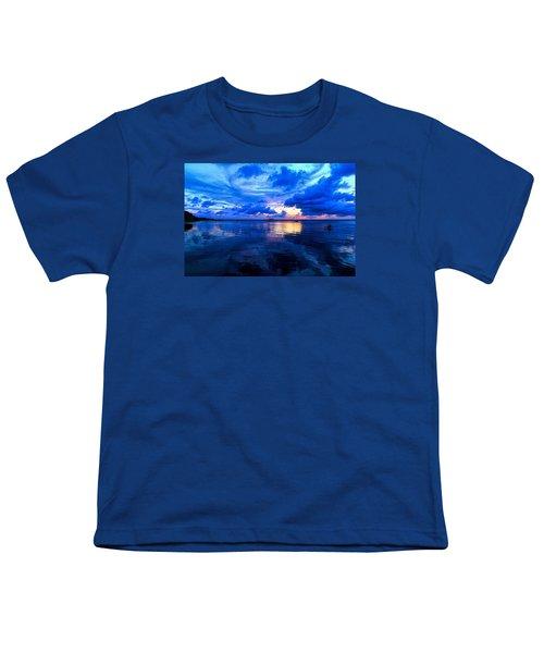 Blazing Blue Sunset Youth T-Shirt