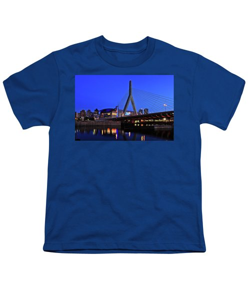 Boston Garden And Zakim Bridge Youth T-Shirt