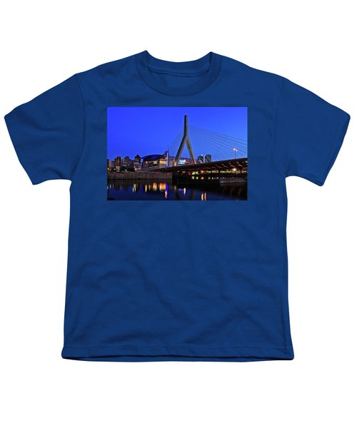 Boston Garden And Zakim Bridge Youth T-Shirt