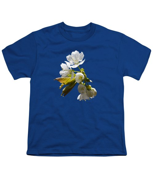 Cherry Blossoms Youth T-Shirt by Christina Rollo