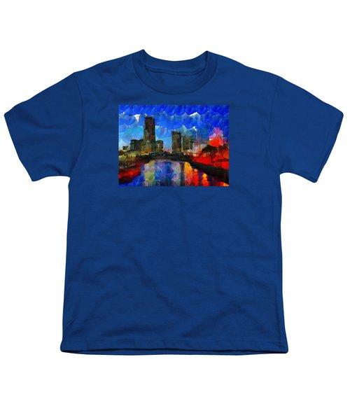 City Living - Tokyo - Skyline Youth T-Shirt by Sir Josef - Social Critic - ART