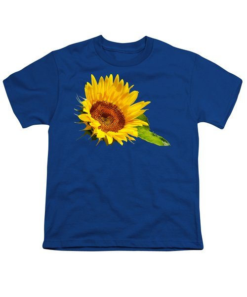 Color Me Happy Sunflower Youth T-Shirt by Christina Rollo