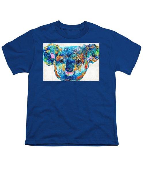 Colorful Koala Bear Art By Sharon Cummings Youth T-Shirt by Sharon Cummings