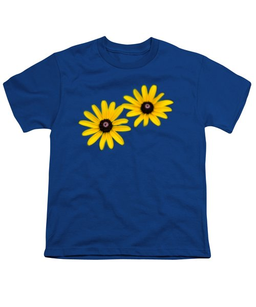 Double Daisies Youth T-Shirt by Christina Rollo
