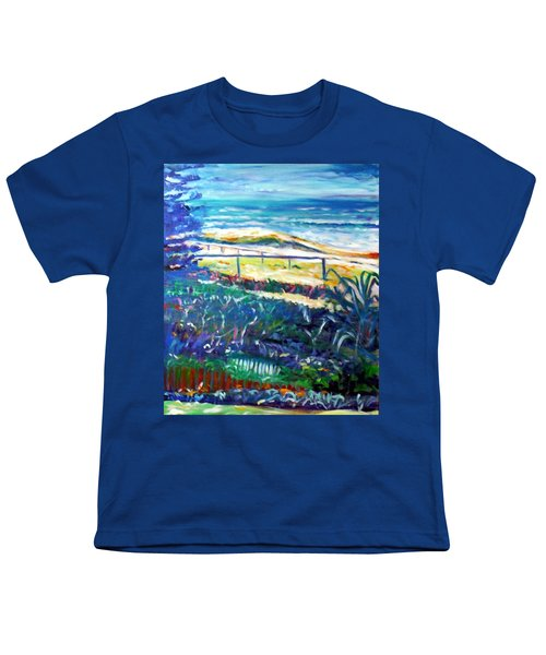 Youth T-Shirt featuring the painting Dune Grasses by Winsome Gunning