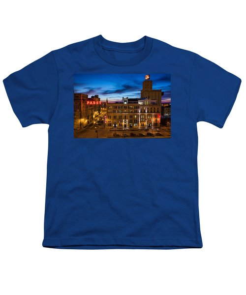 Evening At Pabst Youth T-Shirt by Bill Pevlor