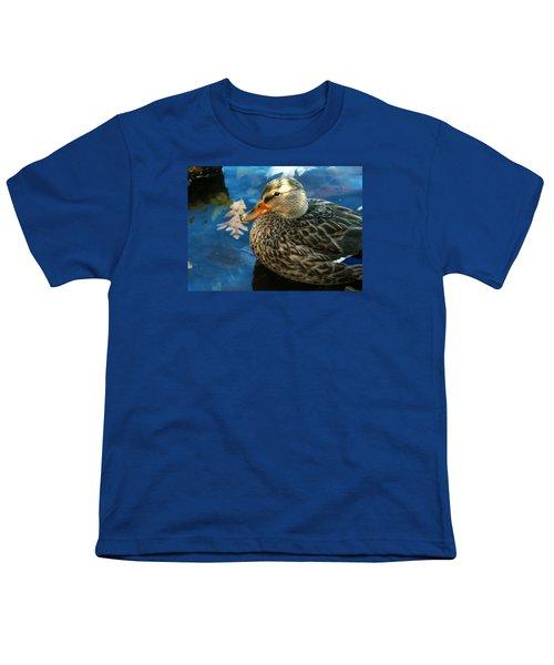 Female Mallard Duck In The Fox River Youth T-Shirt