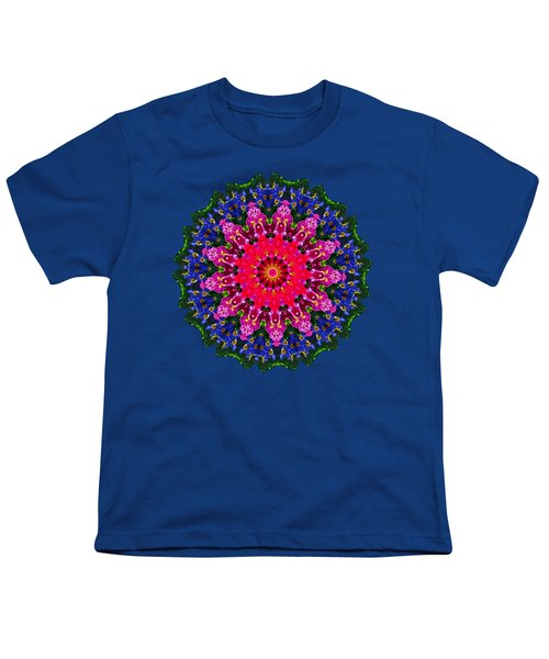 Floral Kaleidoscope By Kaye Menner Youth T-Shirt
