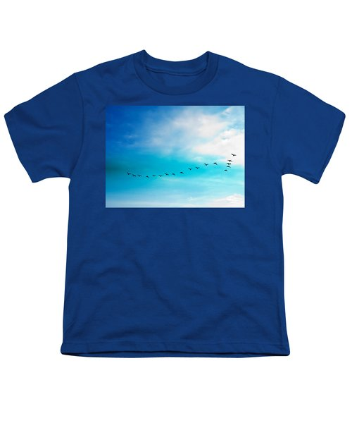 Flying Away Youth T-Shirt by Jose Rojas