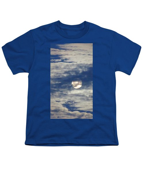 Full Moon In Gemini With Clouds Youth T-Shirt