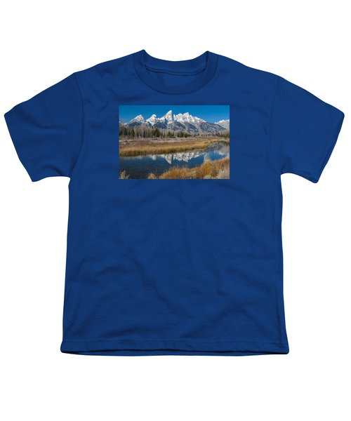 Youth T-Shirt featuring the photograph Grand Tetons by Gary Lengyel