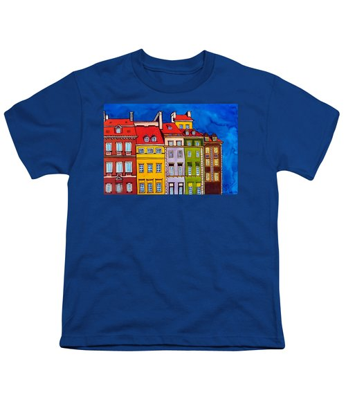 Houses In The Oldtown Of Warsaw Youth T-Shirt