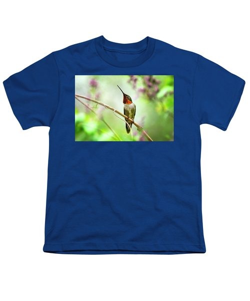 Hummingbird Looking For Love Youth T-Shirt
