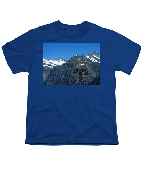 Maennlichen Gondola Calbleway, In The Background Mettenberg And Schreckhorn Youth T-Shirt