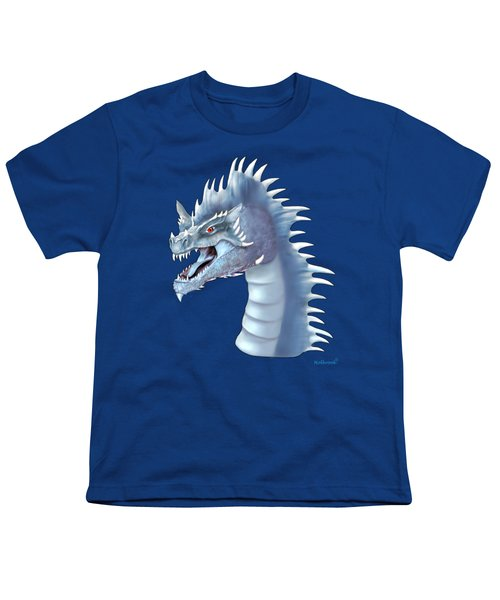 Mystical Ice Dragon Youth T-Shirt by Glenn Holbrook
