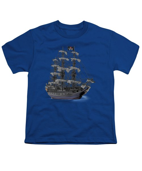 Mystical Moonlit Pirate Ship Youth T-Shirt