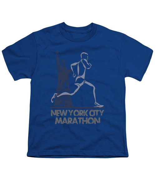 New York City Marathon3 Youth T-Shirt by Joe Hamilton