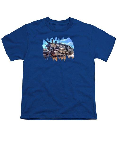 No. 25 Steam Locomotive Youth T-Shirt by Thom Zehrfeld