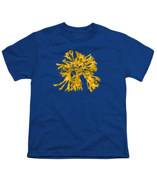 Youth T-Shirt featuring the mixed media Ocean Seaweed Plant Art Rhodomenia Sobolifera Square by Christina Rollo