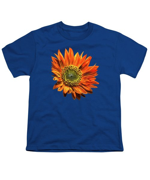 Orange Sunflower Youth T-Shirt by Christina Rollo