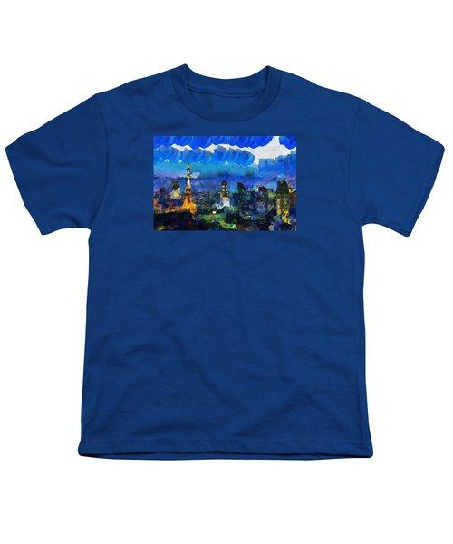 Paris Inside Tokyo Youth T-Shirt by Sir Josef - Social Critic - ART