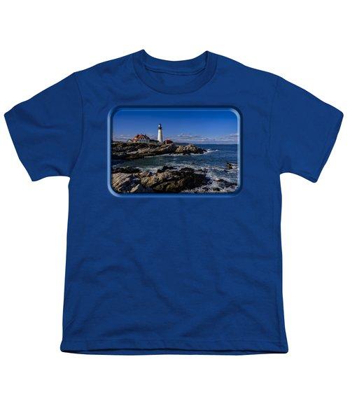 Portland Head Light No.32 Youth T-Shirt by Mark Myhaver