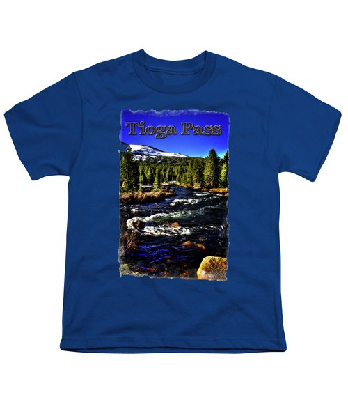 Rapids Along The Tioga Pass Road Youth T-Shirt by Roger Passman