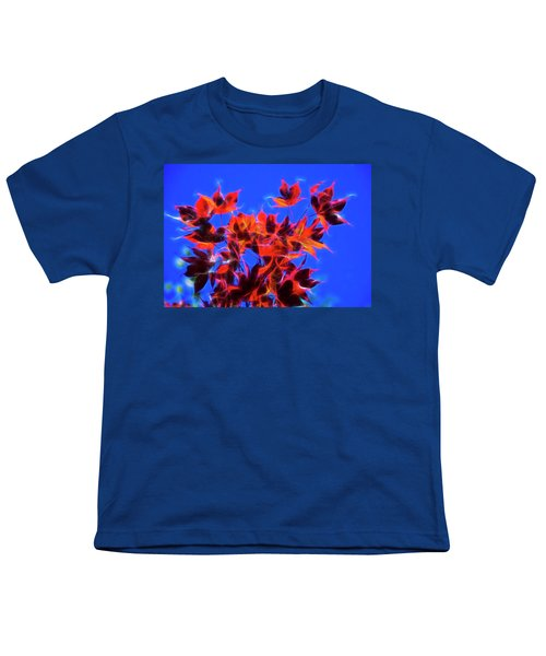 Youth T-Shirt featuring the photograph Red Maple Leaves by Yulia Kazansky