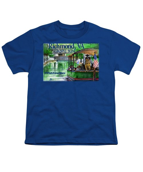 Richmond Va Canal Boat Youth T-Shirt