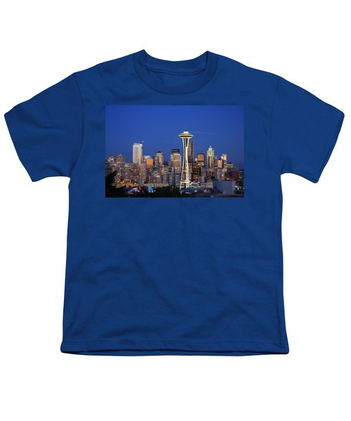 Seattle At Dusk Youth T-Shirt