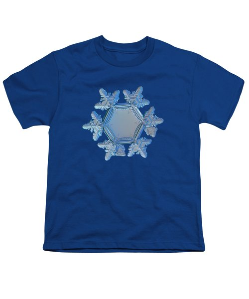 Snowflake Photo - Sunflower Youth T-Shirt by Alexey Kljatov