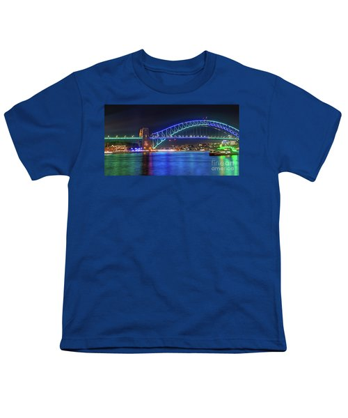 Sydney Harbour Green And Blue By Kaye Menner Youth T-Shirt