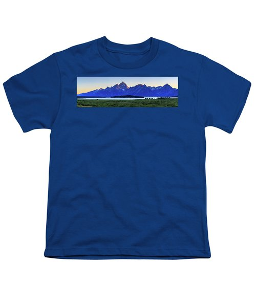 Youth T-Shirt featuring the photograph Teton Sunset by David Chandler