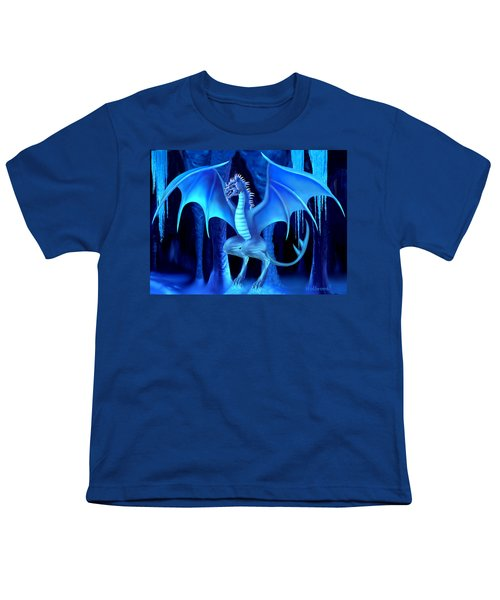 The Blue Ice Dragon Youth T-Shirt by Glenn Holbrook