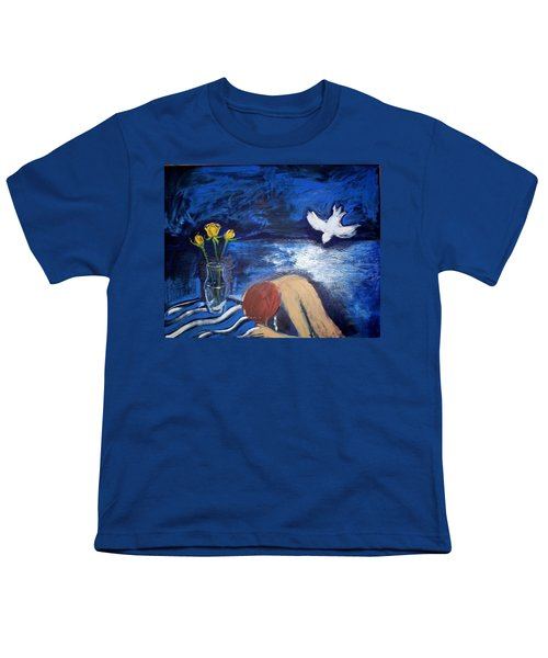 Youth T-Shirt featuring the painting The Healing by Winsome Gunning