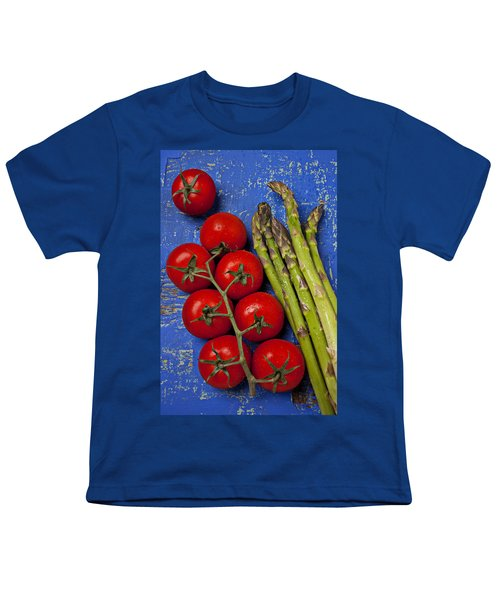 Tomatoes And Asparagus  Youth T-Shirt by Garry Gay
