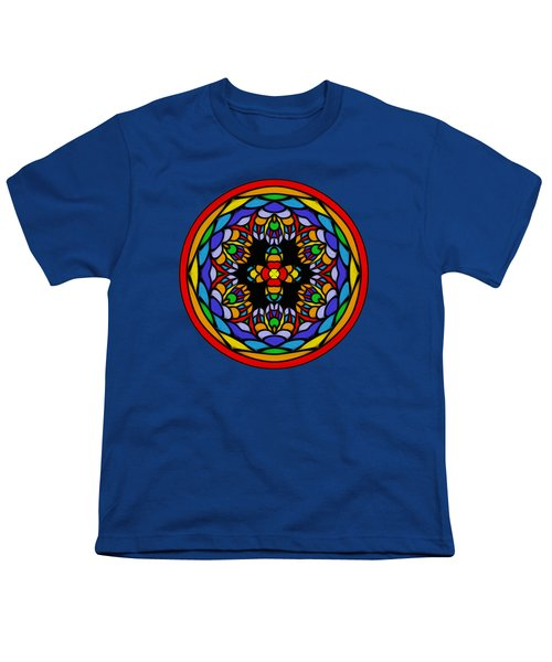 Vibrant Pattern Orb By Kaye Menner Youth T-Shirt by Kaye Menner