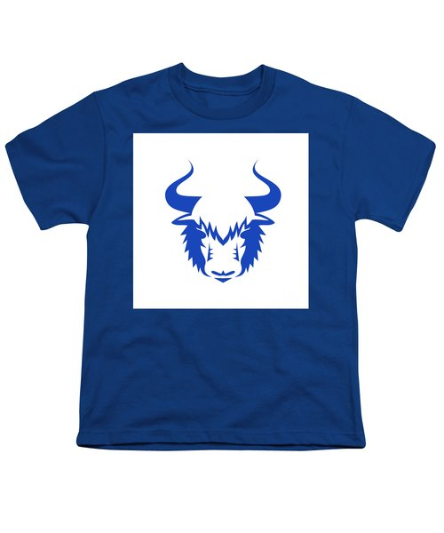 Yak Head Front Retro Youth T-Shirt