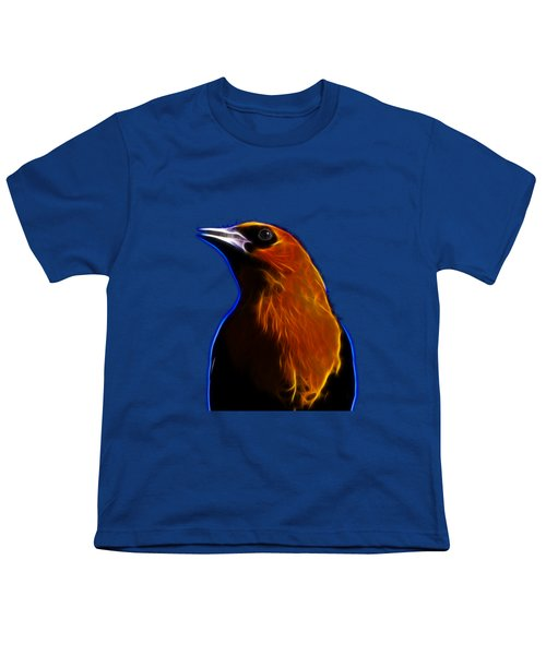 Yellow Headed Blackbird Youth T-Shirt by Shane Bechler
