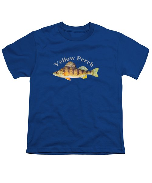 Yellow Perch Fish By Dehner Youth T-Shirt by T Shirts R Us -