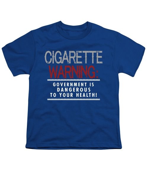 Cigarette Warning Youth T-Shirt