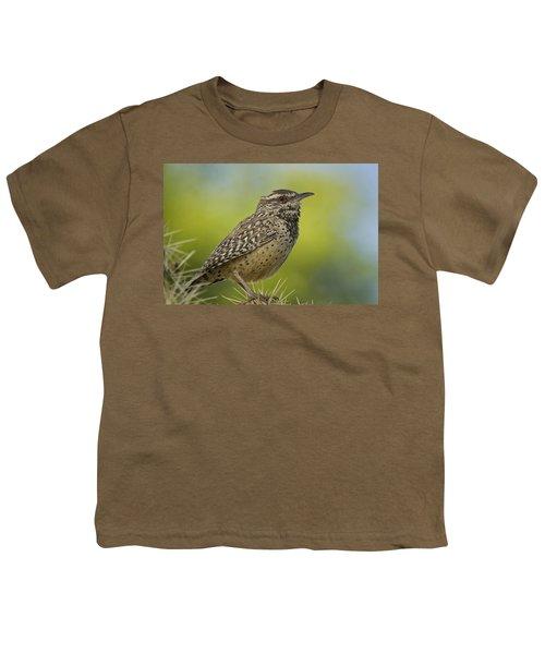 Cactus Wren  Youth T-Shirt by Saija  Lehtonen