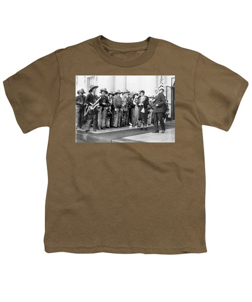Cowboy Band, 1929 Youth T-Shirt by Granger